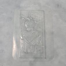 Молд пластиковый Единорог с сердцем