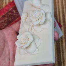 """Силиконовая форма №755 """"Плитка шоколада роза"""""""