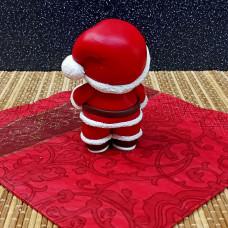 """Силиконовая форма №847 """"Мишка Санта Клаус"""""""