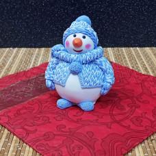 """Силиконовая форма №865 """"Снеговик в костюме"""""""