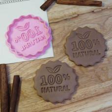 """Штамп + вырубка """"100% NATURAL"""""""