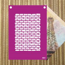 Трафарет №681 - Кирпичная стена 4